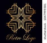 vintage ornamental logo... | Shutterstock .eps vector #1047995581