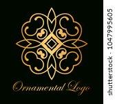 vintage ornamental logo... | Shutterstock .eps vector #1047995605