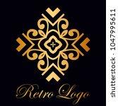 vintage ornamental logo... | Shutterstock .eps vector #1047995611