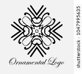 vintage ornamental logo... | Shutterstock .eps vector #1047995635