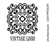 vintage ornamental logo... | Shutterstock .eps vector #1047995659