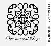 vintage ornamental logo... | Shutterstock .eps vector #1047995665