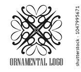 vintage ornamental logo... | Shutterstock .eps vector #1047995671