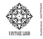 vintage ornamental logo... | Shutterstock .eps vector #1047995695