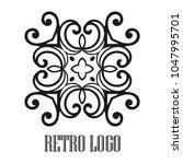 vintage ornamental logo... | Shutterstock .eps vector #1047995701