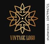 vintage ornamental logo... | Shutterstock .eps vector #1047996721