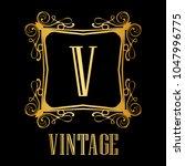 vintage ornamental logo... | Shutterstock .eps vector #1047996775
