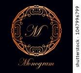 vintage ornamental logo... | Shutterstock .eps vector #1047996799