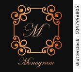 vintage ornamental logo... | Shutterstock .eps vector #1047996805