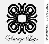 vintage ornamental logo... | Shutterstock .eps vector #1047996829