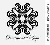 vintage ornamental logo... | Shutterstock .eps vector #1047996841