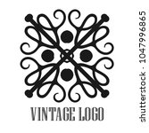 vintage ornamental logo... | Shutterstock .eps vector #1047996865