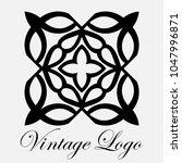 vintage ornamental logo... | Shutterstock .eps vector #1047996871