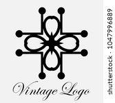 vintage ornamental logo... | Shutterstock .eps vector #1047996889