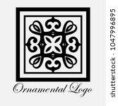 vintage ornamental logo... | Shutterstock .eps vector #1047996895