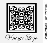 vintage ornamental logo... | Shutterstock .eps vector #1047996901