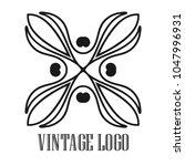 vintage ornamental logo... | Shutterstock .eps vector #1047996931