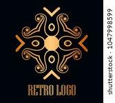 vintage ornamental logo... | Shutterstock .eps vector #1047998599