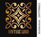 vintage ornamental logo... | Shutterstock .eps vector #1047998611