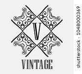 vintage ornamental logo... | Shutterstock .eps vector #1048000369