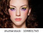 glamour portrait of beautiful... | Shutterstock . vector #104801765