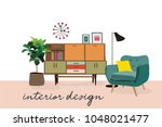 interior design vector... | Shutterstock .eps vector #1048021477