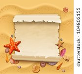 sea shells with sand as... | Shutterstock .eps vector #104802155