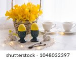 On A White Table Yellow Eggs ...