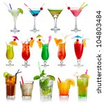 set of alcoholic cocktails... | Shutterstock . vector #104803484