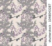 urban ufo camouflage in pastel... | Shutterstock .eps vector #1048043287