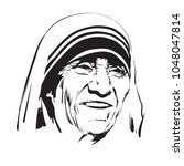 mother teresa.  saint teresa of ... | Shutterstock .eps vector #1048047814