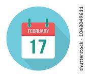 february 17 calendar icon flat. ... | Shutterstock .eps vector #1048049611