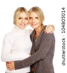 closeup portrait of two women... | Shutterstock . vector #104805014