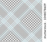 glen plaid pattern in grey and...   Shutterstock .eps vector #1048078609
