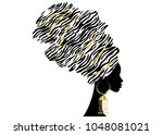 vector portrait beautiful...   Shutterstock .eps vector #1048081021