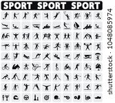 sports icons set. | Shutterstock .eps vector #1048085974