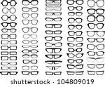 glasses and sunglasses... | Shutterstock .eps vector #104809019