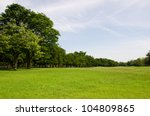 field of grass with sky in... | Shutterstock . vector #104809865
