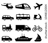 icons for various means of... | Shutterstock .eps vector #104812004