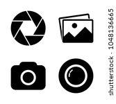 foto camera icon set. picture ...