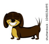 little dog   lovely little... | Shutterstock .eps vector #1048156495