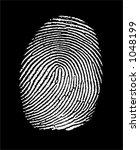 fingerprint in negative  white... | Shutterstock .eps vector #1048199
