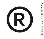 registered trademark sign. | Shutterstock .eps vector #1048222165