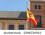 Spanish Flag In Front Of A...
