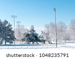 winter season in city park. | Shutterstock . vector #1048235791