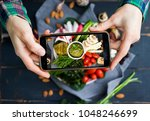 Woman Hands Takes Food Photo O...