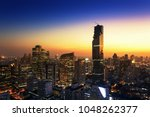 city scape bangkokk buildings... | Shutterstock . vector #1048262377