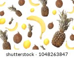 lovely fruit and vegetables | Shutterstock . vector #1048263847