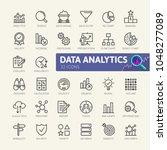 data analysis  statistics ... | Shutterstock .eps vector #1048277089