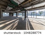 construction site building with ... | Shutterstock . vector #1048288774